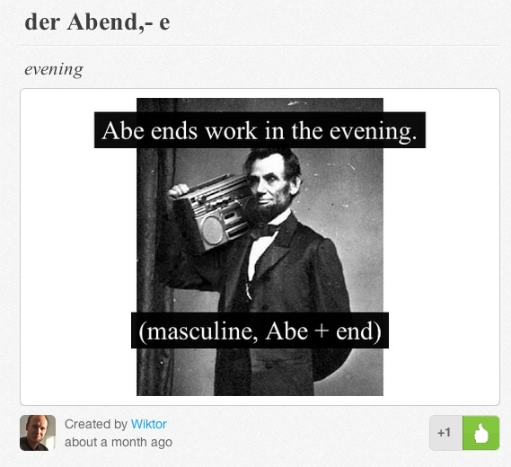 abe mem memrise language german learning