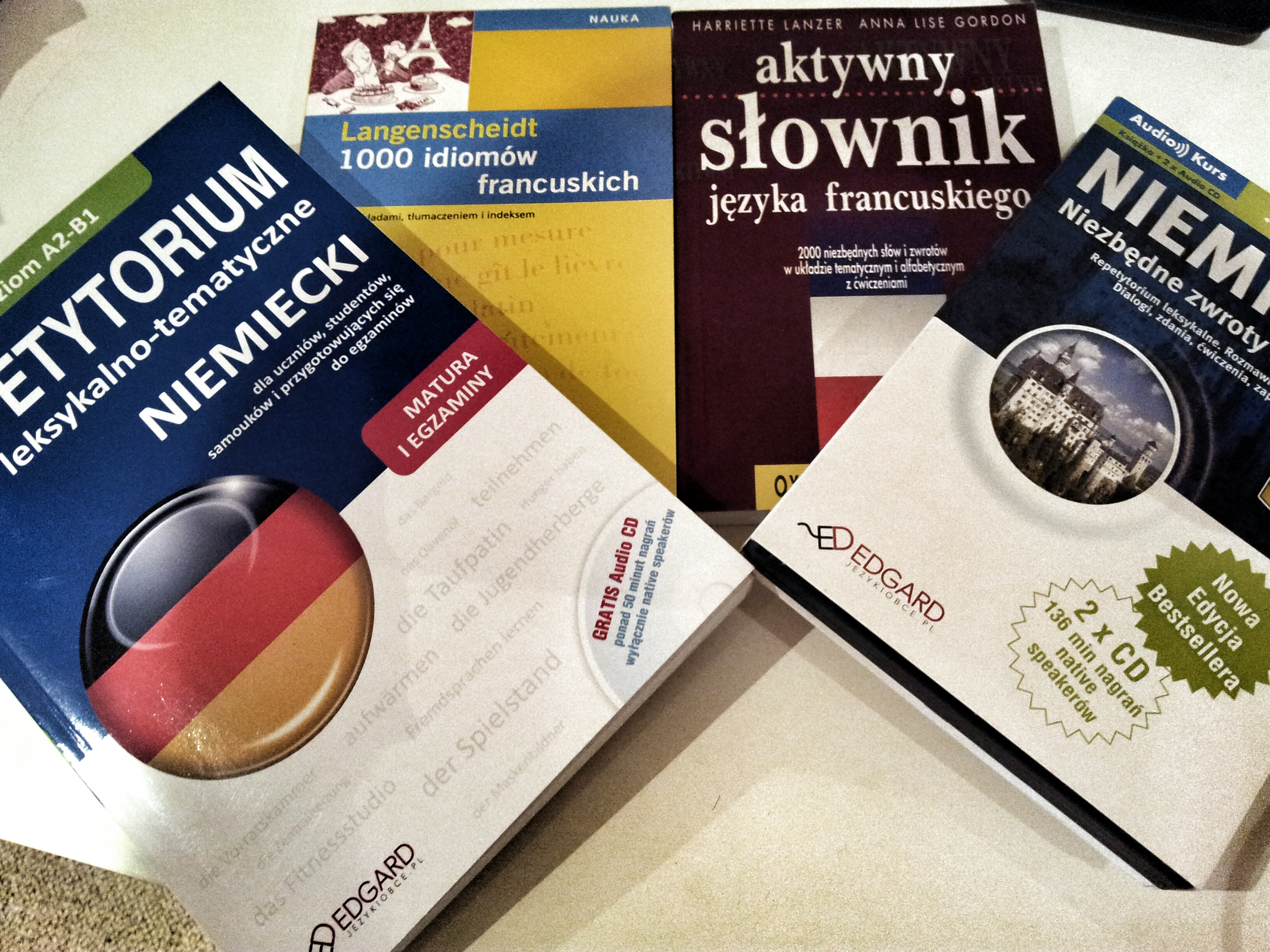 learning french and german can be cheap or free with the right books